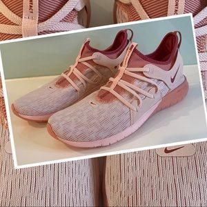 Womens Nike Running Flex Contact 3 Natural Motion Offset 6.0 pink tones size 11
